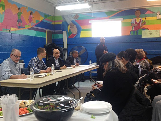 Developers and elected officials meet with Lincoln-Lemington residents at Pearson Recreation Center on March 11. - CP PHOTO BY RYAN DETO