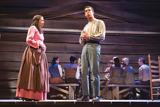 Aenya Ulke and Jared Smith in Uncle Tom's Cabin, at Point Park Conservatory