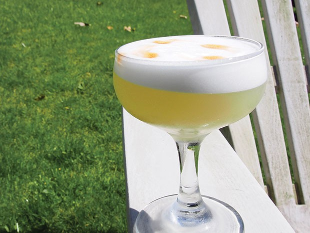 Pisco sour, a tart, silky-smooth summertime drink - CP PHOTO BY DREW CRANISKY