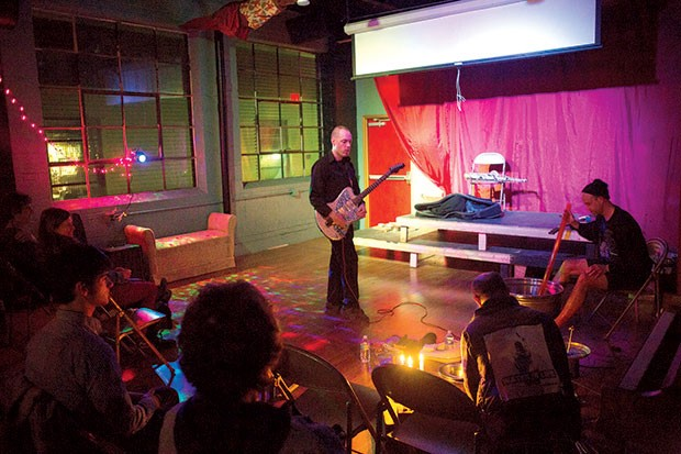 Crucible Sounds plays to the Glitter Box Theater crowd on April 13