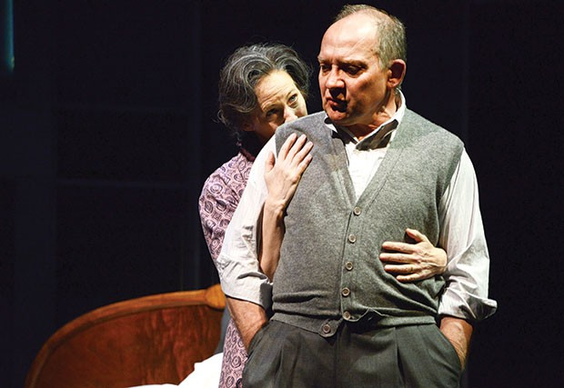 Kathleen McNenny and Zach Grenier in Death of a Salesman at Pittsburgh Public Theater