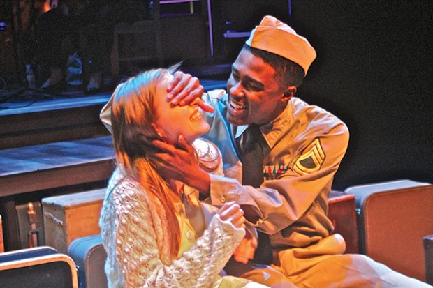 Elizabeth Boyke and Lamont Walker II in Violet, at Front Porch Theatricals