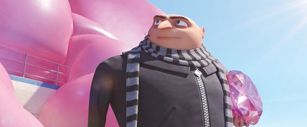 In the pink: Gru