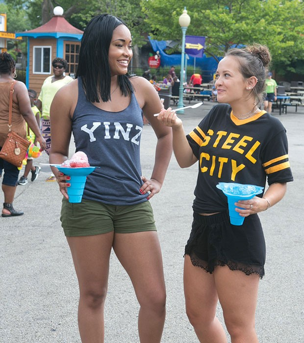 Summer fun at Kennywood Park; Pittsburgh shirts by Steel City