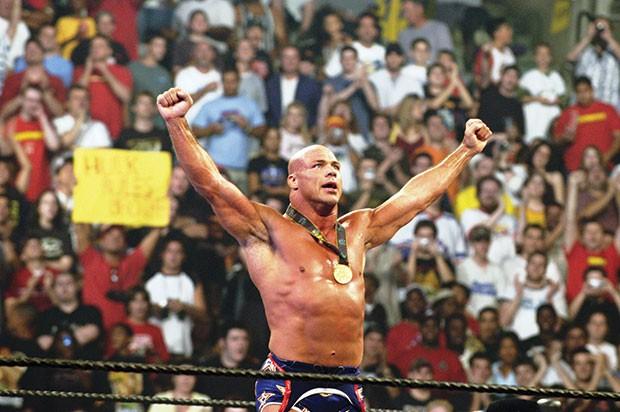 Mount Lebanon graduate, Olympic gold medalist and pro wrestler Kurt Angle