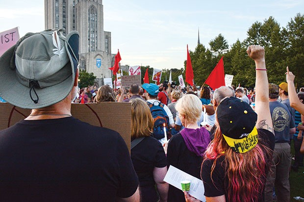 Pittsburghers held a vigil Aug. 13 in Schenley Plaza. - CP PHOTO BY STEPHEN CARUSO