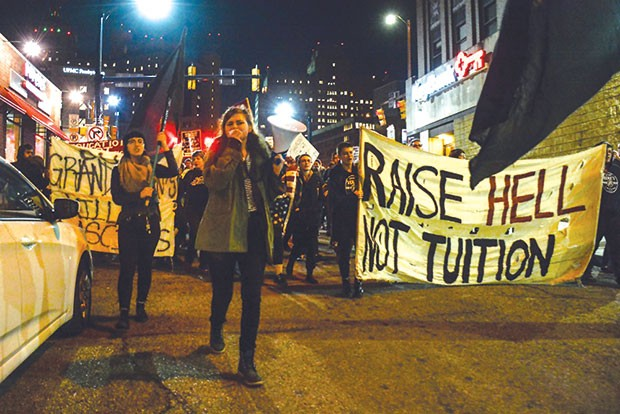 In November, hundreds marched as part of a student-debt protest in Oakland. - CP PHOTO BY STEPHEN CARUSO