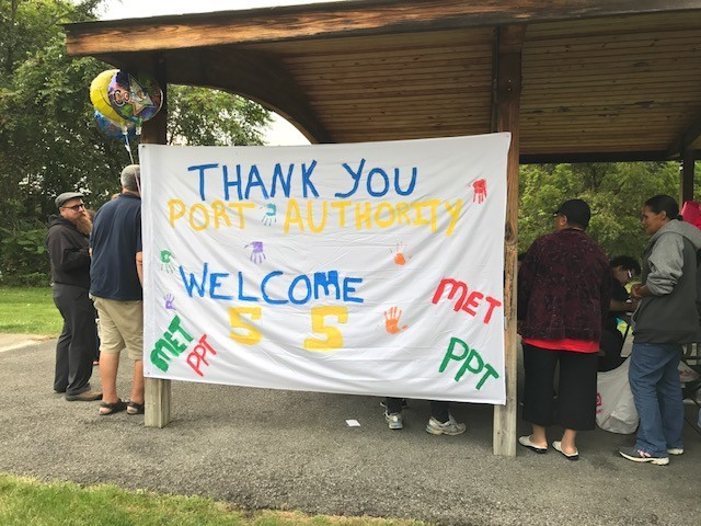 West Mifflin residents celebrate the 55 bus extension, but proposed cuts could ax the route. - PHOTO COURTESY OF CHANDANA CHERUKUPALLI