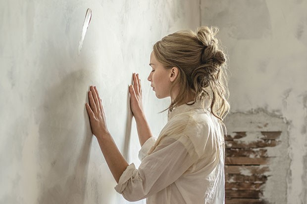Working the walls: Jennifer Lawrence