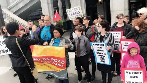 Group of activists gathered in Harrisburg on Oct. 30 - PHOTO COURTESY OF ADANJESUS MARIN