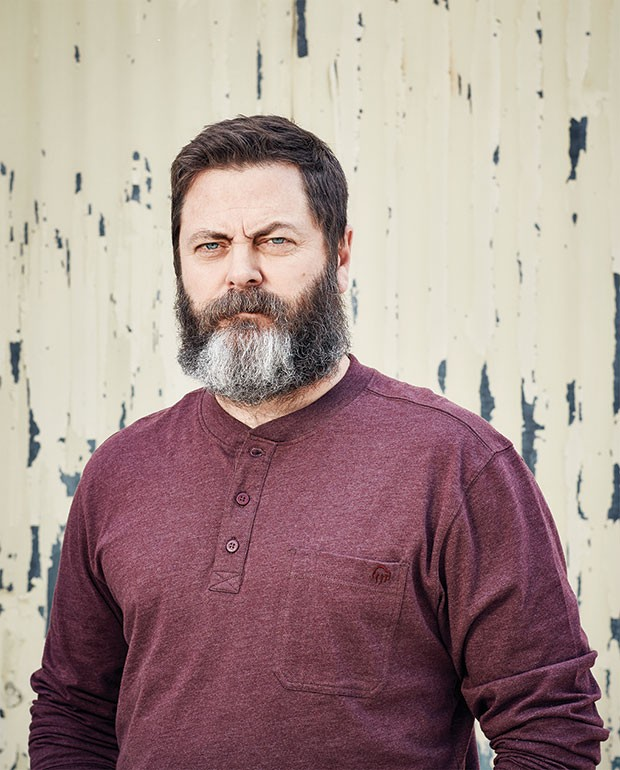 Hug it out: Nick Offerman