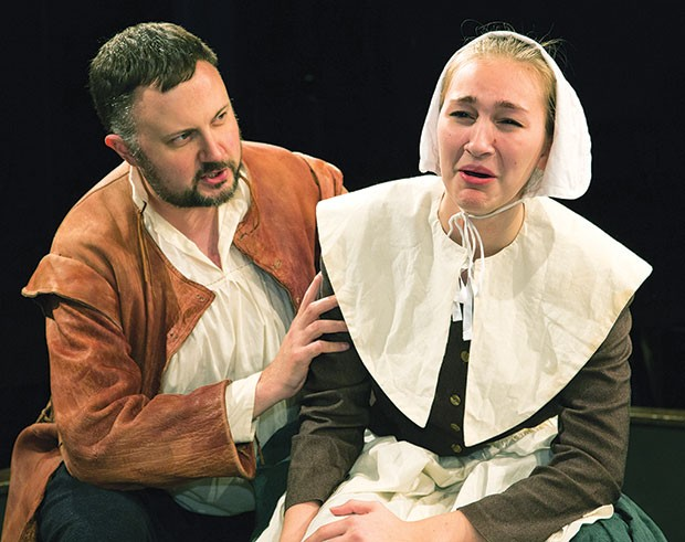 Eric Leslie and Kayleigh Peternel in The Crucible at Little Lake Theatre