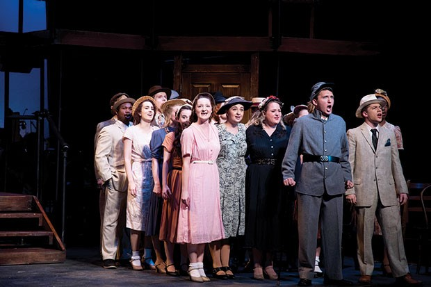 The cast of Parade, at University of Pittsburgh Stages