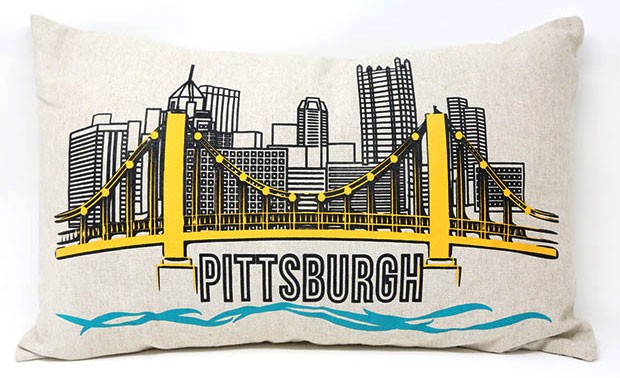Linen Pittsburgh Pillow