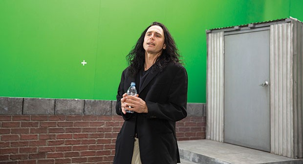 """Oh, hi, Mark"": James Franco as Tommy Wiseau"