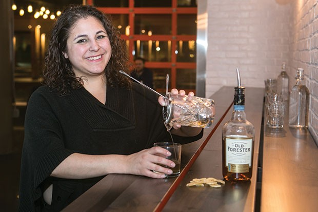 Federal Galley's bar manager Cat Cannon prepares a Turon Saba Old Fashioned - CP PHOTO BY JOHN COLOMBO