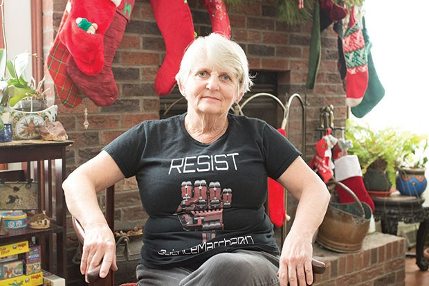 Kitty Lagorio at her home in Peters Township - CP PHOTO BY JAKE MYSLIWCZYK