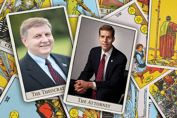State Rep. Rick Saccone (left) and former U.S. Attorney Conor Lamb (right) will face off in a March special election for a U.S. House seat.