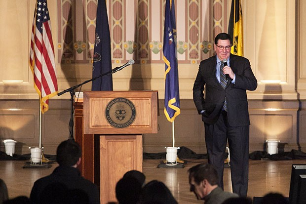 Mayor Bill Peduto takes the stage.