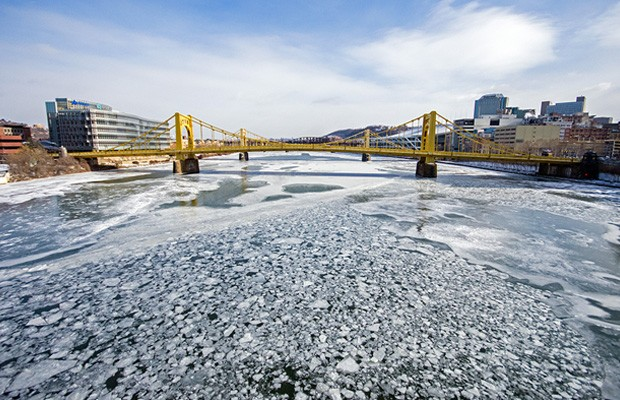 The frozen Allegheny River - CP PHOTOS BY JAKE MYSLIWCZYK