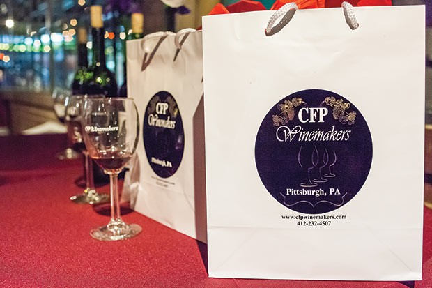 Gift bags with tasting glasses - CP PHOTO BY VANESSA SONG