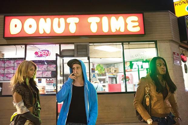 Talking over a donut: Alexandra (Mya Taylor) and Sin-Dee (Kitana Kiki Rodriguez)