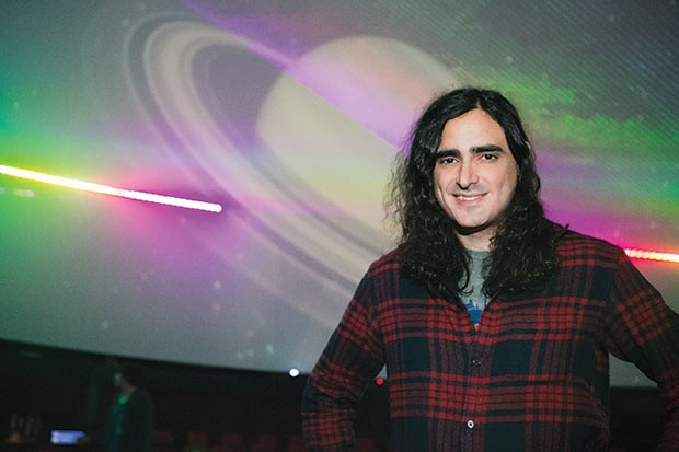 Andre Costello in the planetarium at Carnegie Science Center - CP PHOTO BY JOHN COLOMBO