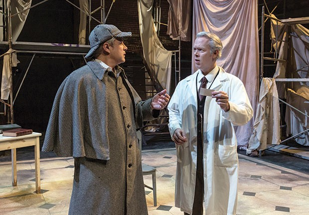 Darren Eliker and Tim McGeever in Kinetic Theatre's Holmes and Watson - PHOTO COURTESY OF ROCKY RACO