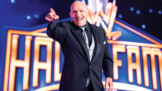 Bruno Sammartino at his WWE Hall of Fame induction in 2013 - PHOTO COURTESY OF WWE