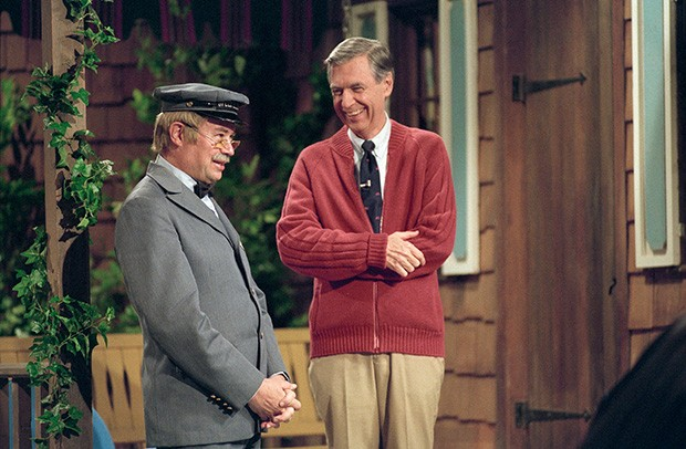 David Newell (left) and Fred Rogers from the show Mister Rogers Neighborhood in the film, Won't You Be My Neighbor? - IMAGE COURTESY OF LYNN JOHNSON