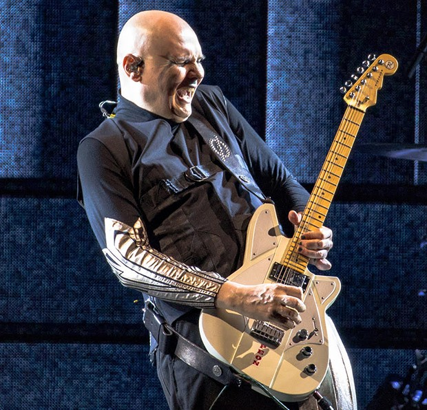 Smashing Pumpkins singer Billy Corgan at PPG Paints Arena on Sat., Aug. 4, 2018 - CP PHOTO BY MIKE PAPARIELLA