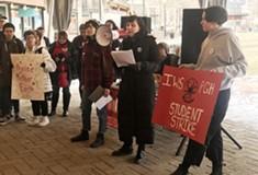 Oakland students walk out as part of International Women's Strike