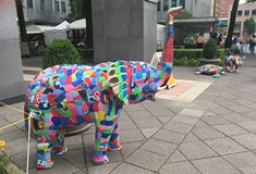 Ocean Sole Africa uses cute animals to make environmental statement at Three Rivers Arts Festival