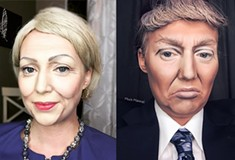 Pittsburgh makeup artist recreates presidential nominees Clinton and Trump