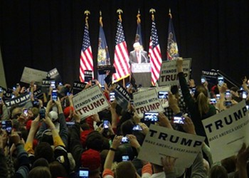 Video: Donald Trump's visit to Pittsburgh draws large crowds of supporters and protesters