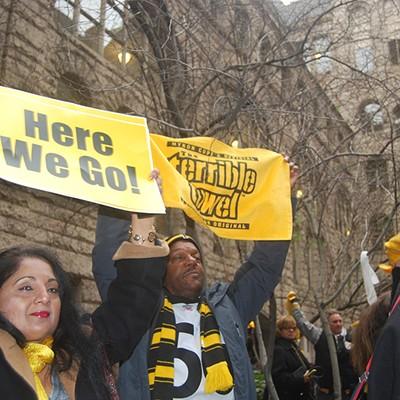 Steelers Rally Downtown