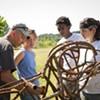 Carrie Furnace Deer Head sculptural installation