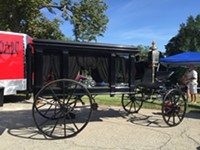 Vintage Hearse on display at 2016 Homewood Cemetery Founders' Day. - Uploaded by Jennie