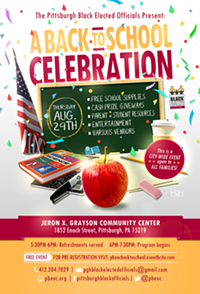"""The Pittsburgh Black Elected Officials Present:  """"A Back to School Celebration"""" - Uploaded by Pamela Collier"""