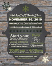 2019 Holiday Craft/Vendor Show flier - Uploaded by Heather Brown