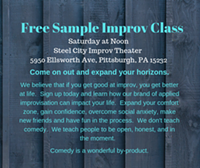 Free Sample Class - Uploaded by Steelcityimprovtheater
