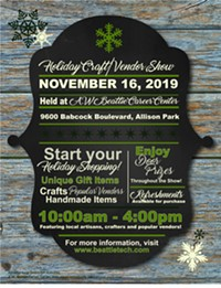 2019 Holiday Craft/Vendor Show flier. The event will be held on November 16th. - Uploaded by Heather Brown