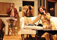 From left: Tony Bingham, Gayle Pazerski and Daina Michelle Griffith in PICT Classic's How the Other Half Loves - PHOTO COURTESY OF SUELLEN FITZSIMMONS