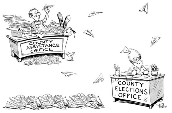 Unregistered Voters Illustration, Vince Dorse