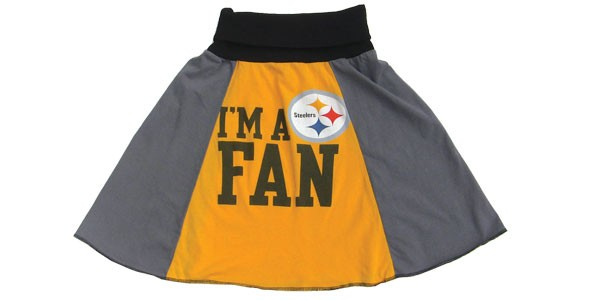 Upcycle Designs Steelers Skirt
