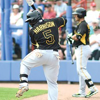 Utility player Josh Harrison can play anywhere in a pinch