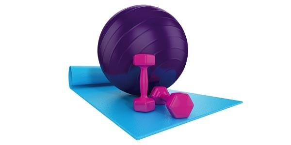 Verve yoga mat and ball