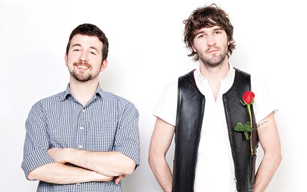 Vests and roses: Japandroids (from left, David Prowse and Brian King)