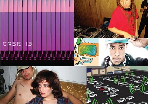 "VIA Festival comprises musicians (like Toyselectah, top right, and AraabMuzik, middle right), visual art and sound experiments (like the ""Bass Rally,"" schematic at bottom right)"