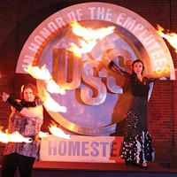Victoria Kerestes (left) and Carolina Loyola-Garcia will dance with fire at U.S. Steel Homestead Works' historic Pump House.